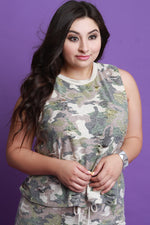 Distressed Camouflage Sleeveless Top, Plus Sizes, Tops + - Fizici.com | Women's Fashion & Clothing, Footwear & Accessories 2018