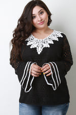 Embroidered Lace Trim Lace Top, Plus Sizes, Tops + - Fizici.com | Women's Fashion & Clothing, Footwear & Accessories 2018
