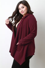 Hoodie Waterfall Front Cardigan Sweater, Plus Sizes, Outerwear & Jackets + - Fizici.com | Women's Fashion & Clothing, Footwear & Accessories 2018
