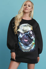 Pug With Me Oversize Sweater Dress, Clothes, Dresses, Sweaters - Fizici.com | Women's Fashion & Clothing, Footwear & Accessories 2018
