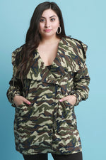 Camouflage Hooded Anorak Jacket, Plus Sizes, Outerwear & Jackets + - Fizici.com | Women's Fashion & Clothing, Footwear & Accessories 2018