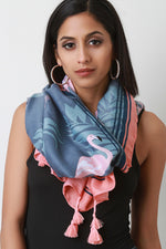 Flamingo Palm Scarf, Accessories, Scarves - Fizici.com | Women's Fashion & Clothing, Footwear & Accessories 2018