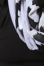 Leopard Spot Panel Block Scarf, Accessories, Scarves - Fizici.com | Women's Fashion & Clothing, Footwear & Accessories 2018