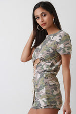 Distressed Camouflage Lace Up With Shorts Set, Clothes, Shorts & Bermudas - Fizici.com | Women's Fashion & Clothing, Footwear & Accessories 2018