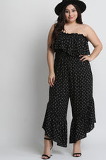 Floral Print Ruffled Strapless Smocked Bodice Jumpsuit, Plus Sizes, Rompers & Jumpsuits + - Fizici.com | Women's Fashion & Clothing, Footwear & Accessories 2018