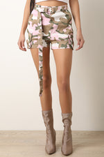 High Waisted Camouflage Belted Cargo Shorts, Clothes, Shorts & Bermudas - Fizici.com | Women's Fashion & Clothing, Footwear & Accessories 2018
