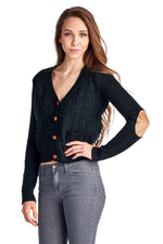Women's Cable Knit Button Down Cardigan