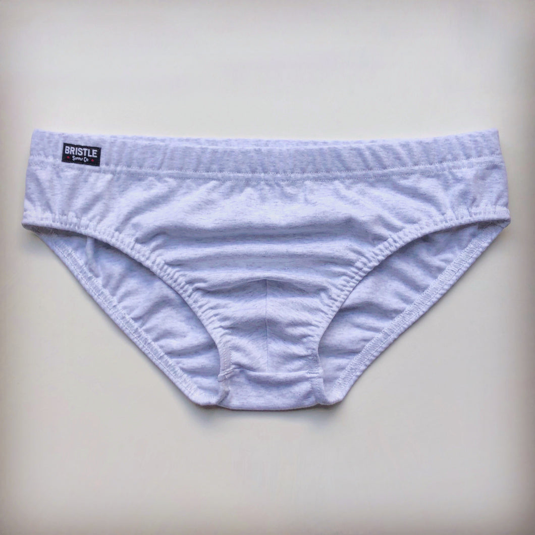 Bristle Brief - Light Grey Marle