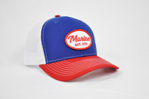 Marine Hat (Red,White, Blue)