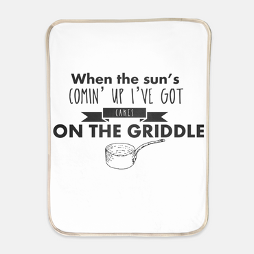 """Cakes on the Griddle"" Sherpa Blanket - 30"" x 40"""
