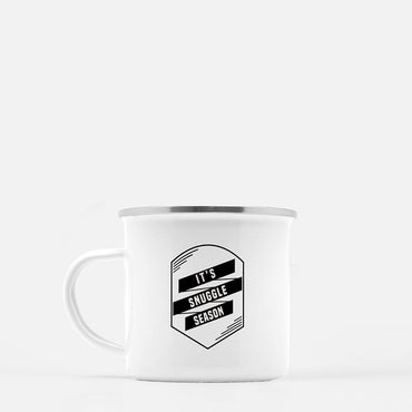 """It's Snuggle Season"" 10 oz. camp mug"