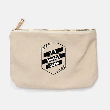 """It's Snuggle Season"" canvas pencil bag"