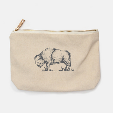 Bison canvas pencil bag