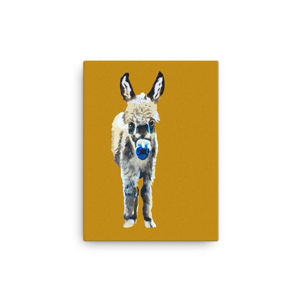 Leon the Donkey print on canvas
