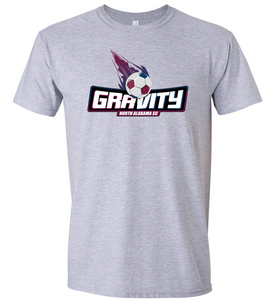 North Alabama SC Gravity Logo T-Shirt - Gray
