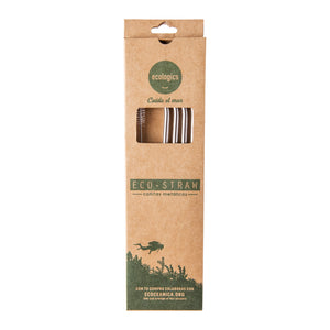 Eco Straw Cañitas Metálicas - Pack Familiar 26.5cm