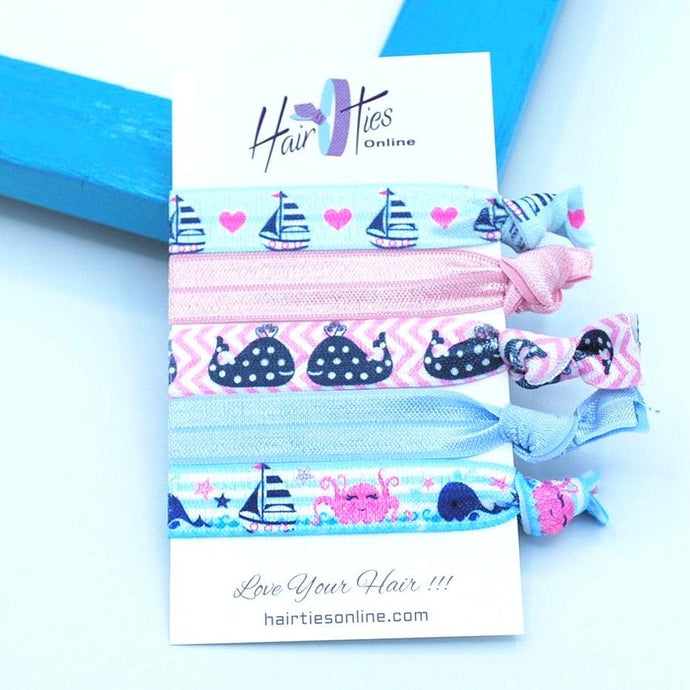 Boat's Bow Knotted Hair Ties- 5 Pack