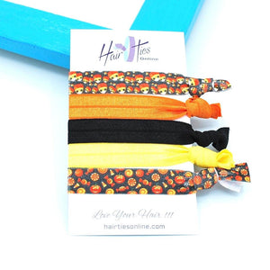 Candy Corn Bow Knotted Hair Ties- 5 Pack