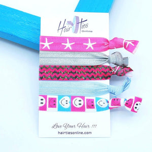 Starfish Bow Knotted Hair Ties- 5 Pack