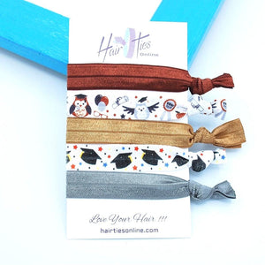 Owls Bow Knotted Hair Ties- 5 Pack