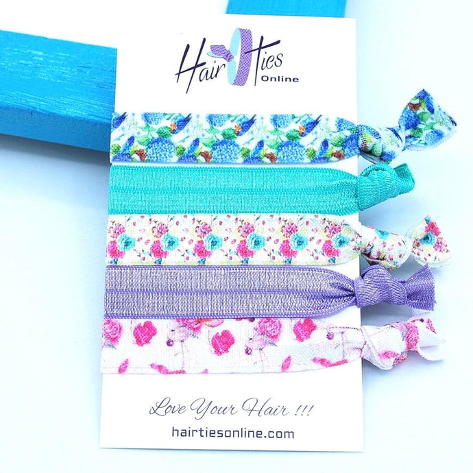 Botanical Garden Bow Knotted Hair Ties - 5 Pack