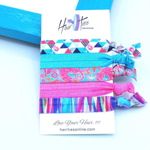 Lobster's Bow Knotted Hair Ties- 5 Pack