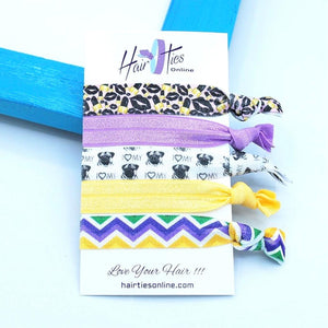 Lipstick's Bow Knotted Hair Ties- 5 Pack