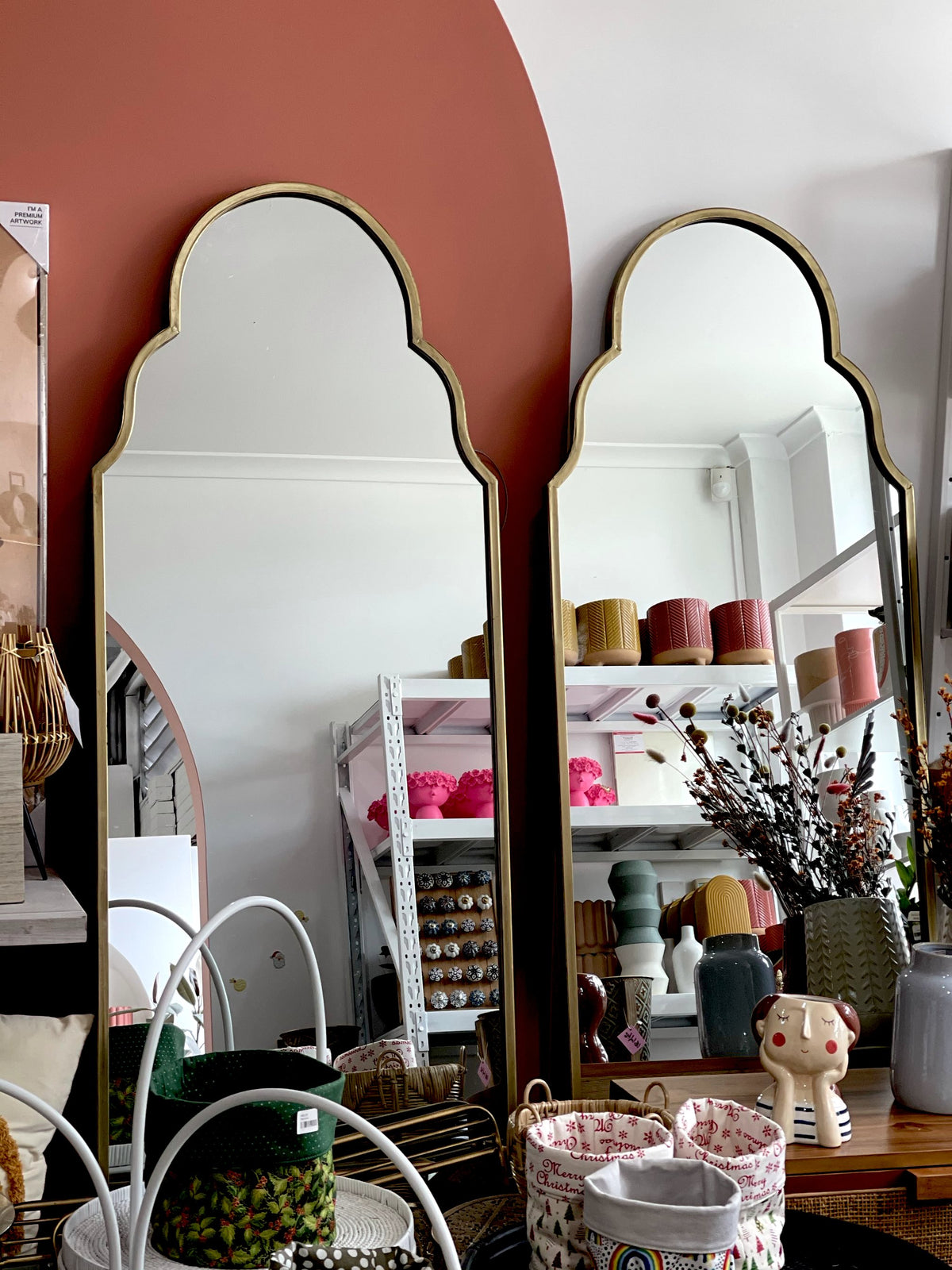 Joy Metal Floor Mirror (Pick up only)