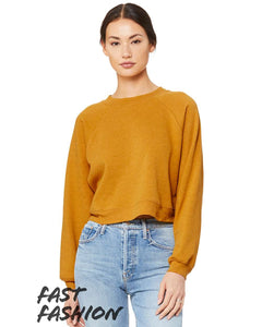 Drop Crop Mustard Sweatshirt