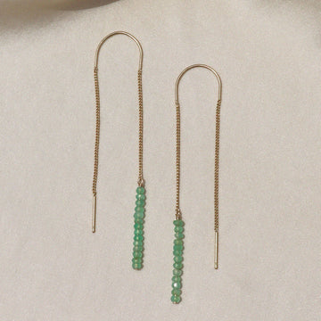 Izaskun Zabala jewelry seed beads dangle earrings