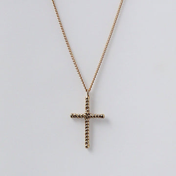 Izaskun Zabala Jewelry rope like cross delicate necklace