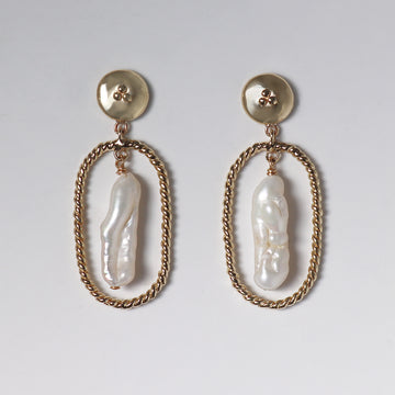 Izaskun Zabala jewelry freshwater pearl dangle earrings