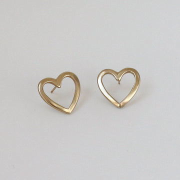Izaskun Zabala jewelry open heart stud earrings
