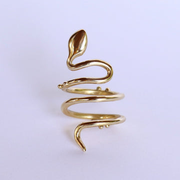 Izaskun Zabala jewelry adjustable snake serpent ring