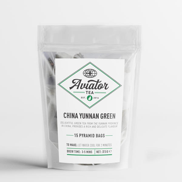 Aviator Coffee - China Yunnan Green Tea Pyramid Bags