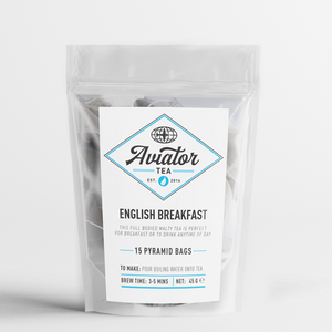 Aviator Coffee - English Breakfast Tea in Pyramid Bags