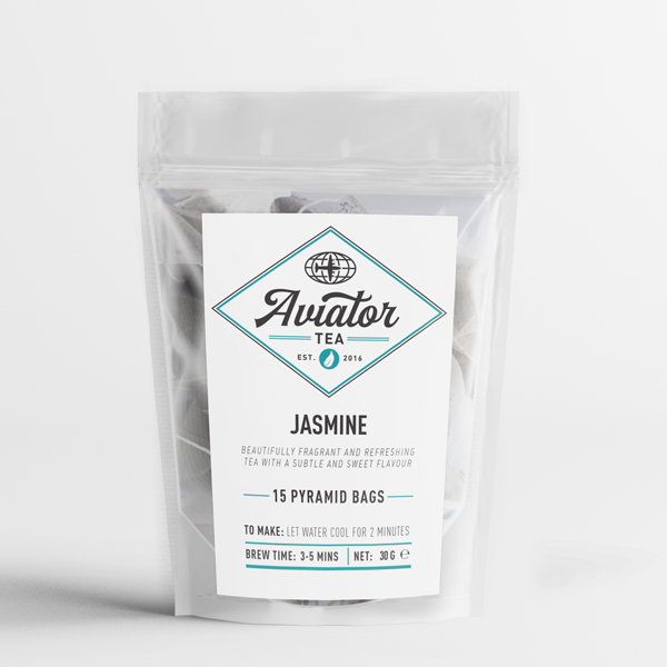 Aviator Coffee - Jasmine Tea in Pyramid Tea Bags