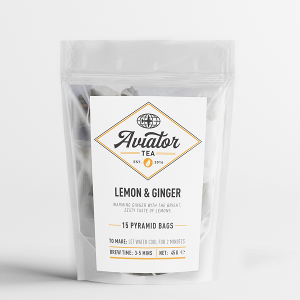 Aviator Coffee - Lemon & Ginger Tea in Pyramid Tea Bags