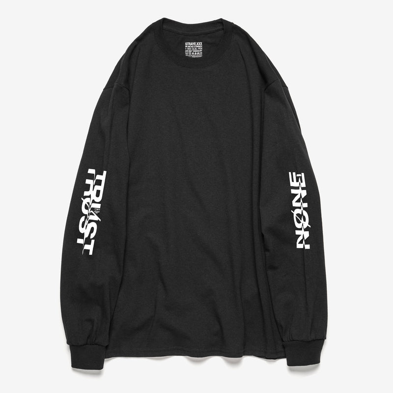 TRUST NONE L/S T-SHIRT - BLACK