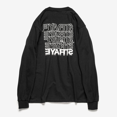 SELFIE L/S T-SHIRT - BLACK - BACK