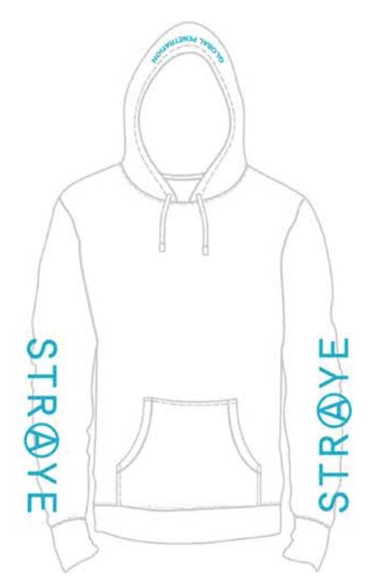 TRAP HOODIE - WHITE TEAL