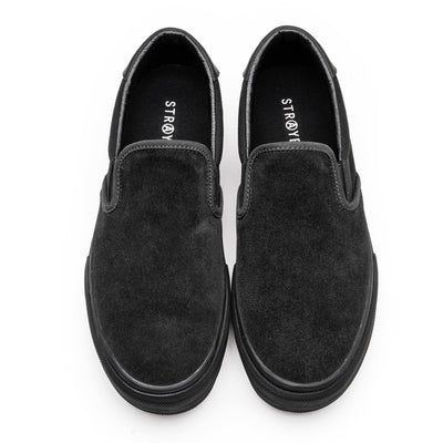 VENTURA / BLACK BLACK SUEDE / Top View