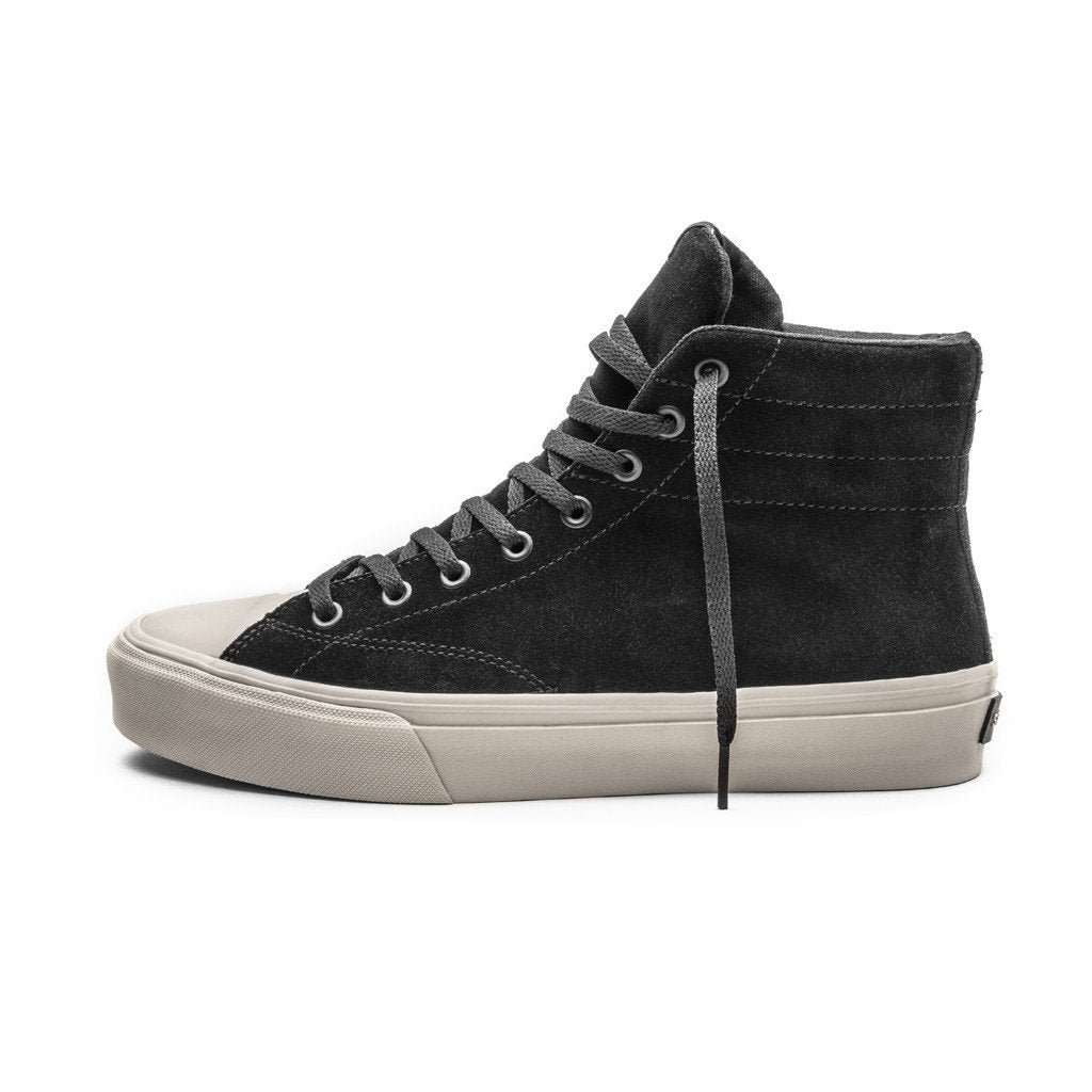 VENICE / BLACK BONE SUEDE / Lateral View