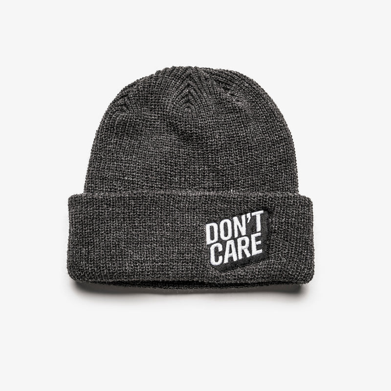 DON'T CARE BEANIE - CARBON