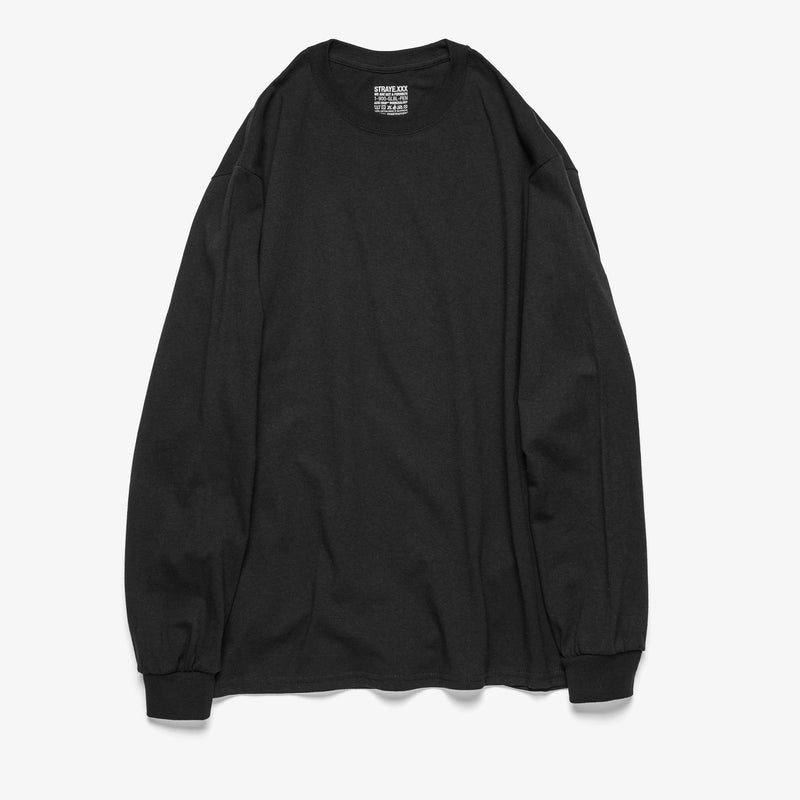 FAKE SMILE L/S TEE - BLACK