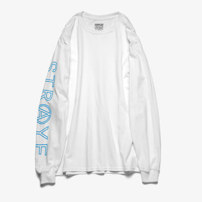 SUPER TRAP L/S T-SHIRT - WHITE TEAL