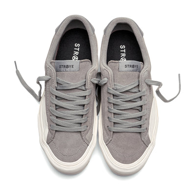 LOGAN - GREY CREAM SUEDE