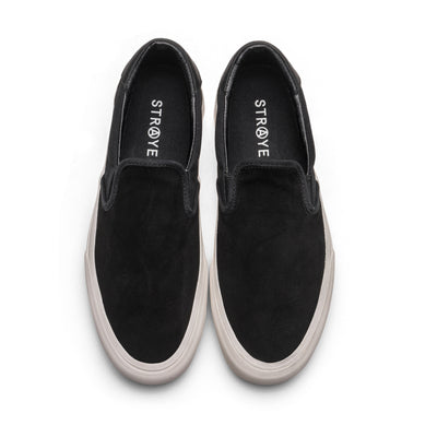 VENTURA - BLACK CREAM SUEDE