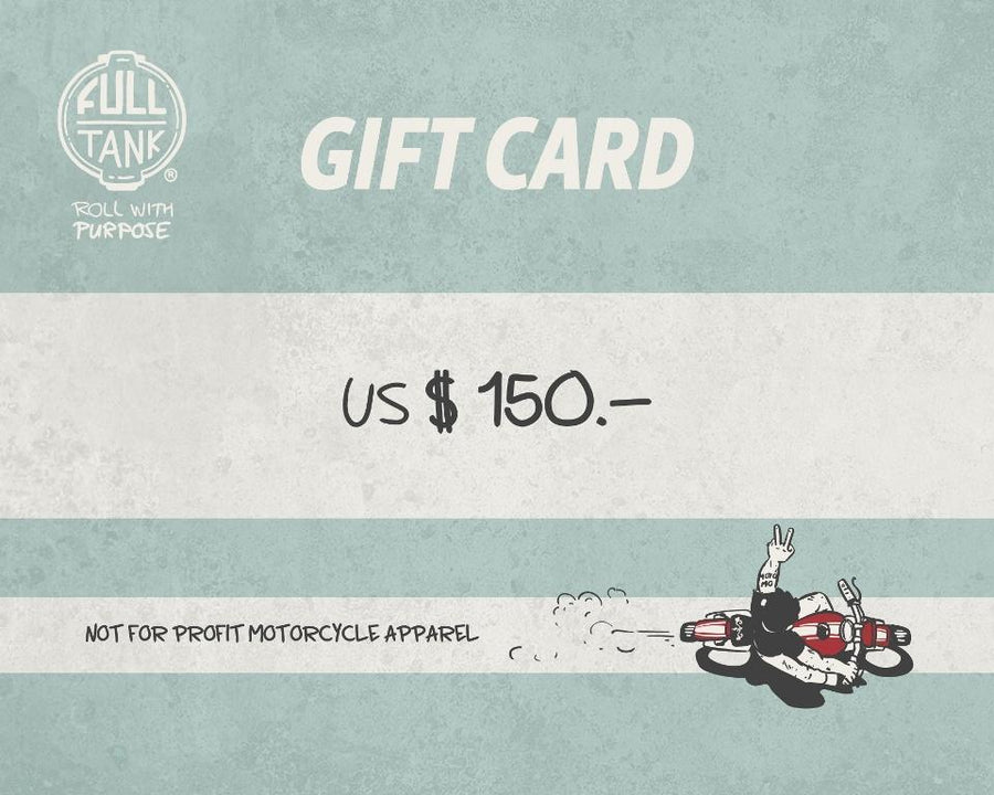 gift card motorcycle charity full tank moto