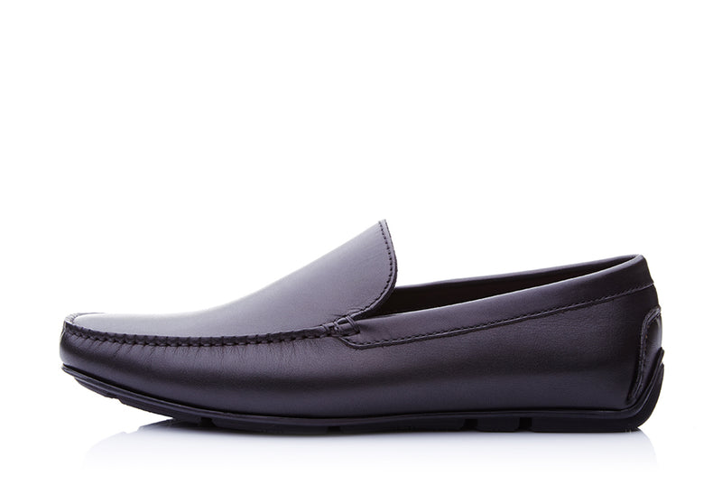 Crust Leather Slip-On Loafers